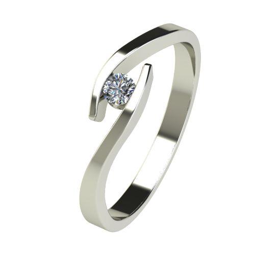 Годежен Пръстен бяло злато с диамант Close 0,07 ct. 2704