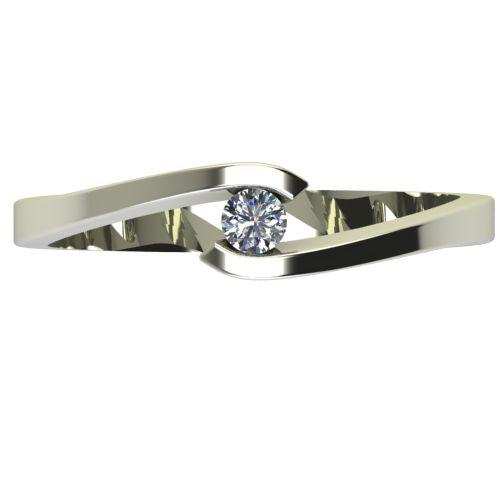 Годежен Пръстен бяло злато с диамант Close 0,07 ct. 2721 a