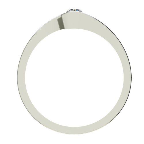 Годежен Пръстен бяло злато с диамант Close 0,07 ct. 2721 b