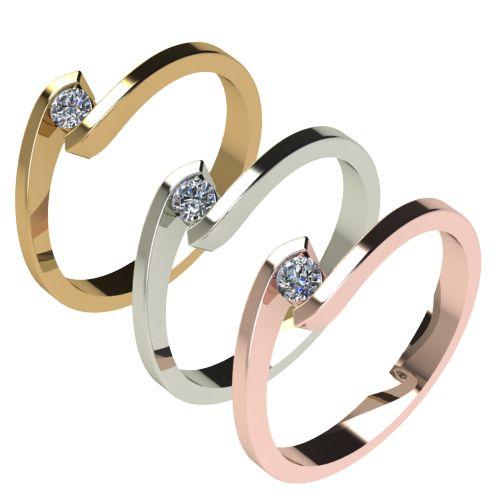Годежен Пръстен бяло злато с диамант Close 0,07 ct. 2721 c