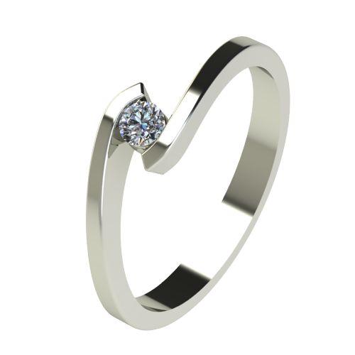 Годежен Пръстен бяло злато с диамант Close 0,07 ct. 2721