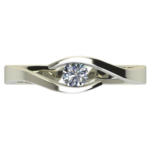 Годежен Пръстен бяло злато с диамант Close 0,12 ct. 2705 a