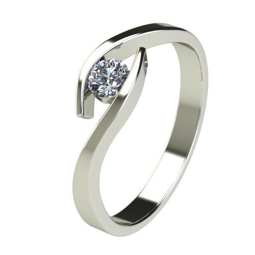 Годежен Пръстен бяло злато с диамант Close 0,12 ct. 2705