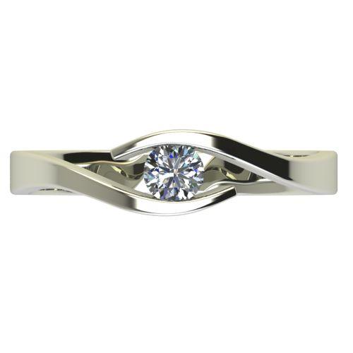 Годежен Пръстен бяло злато с диамант Close 0,17 ct. 2706 a