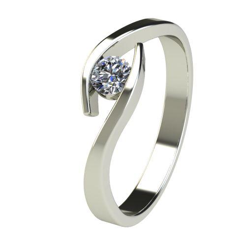 Годежен Пръстен бяло злато с диамант Close 0,17 ct. 2706