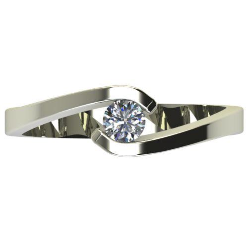 Годежен Пръстен бяло злато с диамант Close 0,17 ct. 2723 a