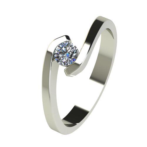Годежен Пръстен бяло злато с диамант Close 0,17 ct. 2723