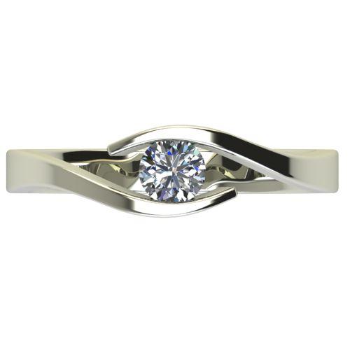 Годежен Пръстен бяло злато с диамант Close 0,25 ct. 2707 a