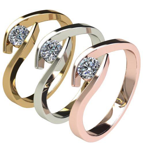Годежен Пръстен бяло злато с диамант Close 0,25 ct. 2707 c