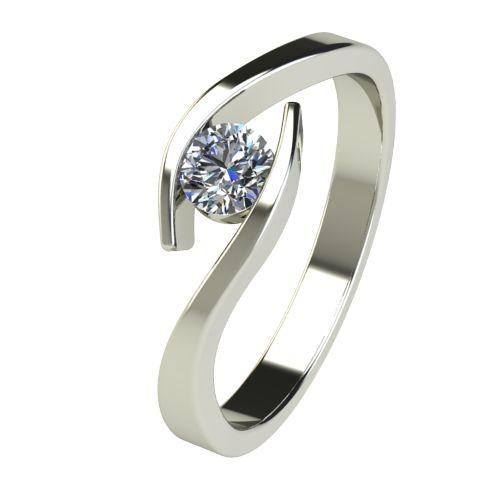 Годежен Пръстен бяло злато с диамант Close 0,25 ct. 2707