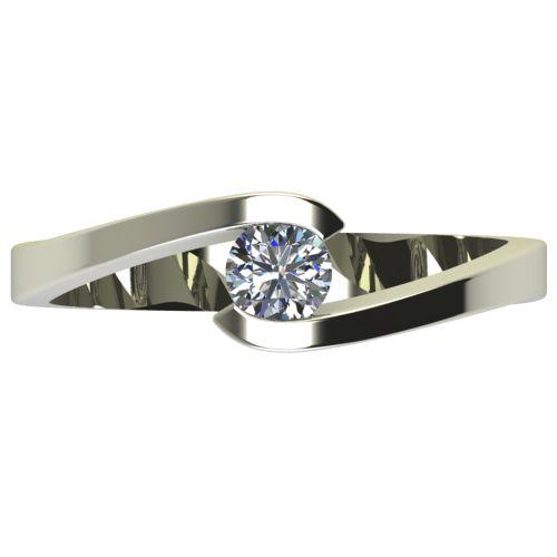 Годежен Пръстен бяло злато с диамант Close 0,25 ct. 2724 a
