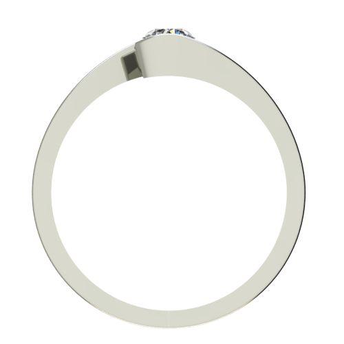 Годежен Пръстен бяло злато с диамант Close 0,25 ct. 2724 b
