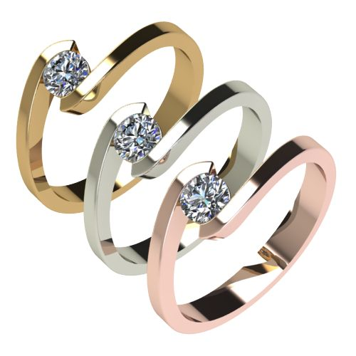 Годежен Пръстен бяло злато с диамант Close 0,25 ct. 2724 c