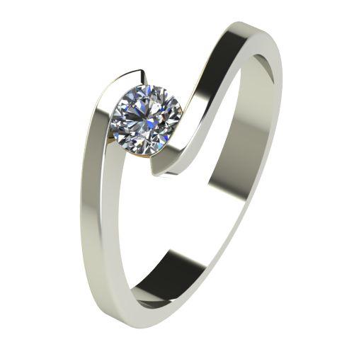 Годежен Пръстен бяло злато с диамант Close 0,25 ct. 2724
