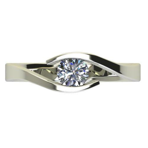 Годежен Пръстен бяло злато с диамант Close 0,36 ct. 2708 a