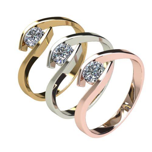 Годежен Пръстен бяло злато с диамант Close 0,36 ct. 2708 c