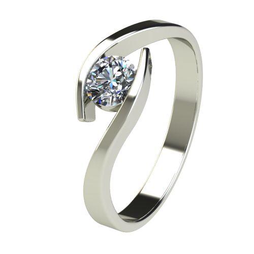 Годежен Пръстен бяло злато с диамант Close 0,36 ct. 2708