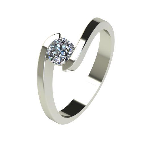 Годежен Пръстен бяло злато с диамант Close 0,36 ct. 2725