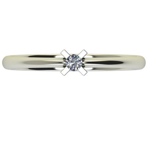 Годежен Пръстен бяло злато с диамант Ether 0,04 ct. 2696 a