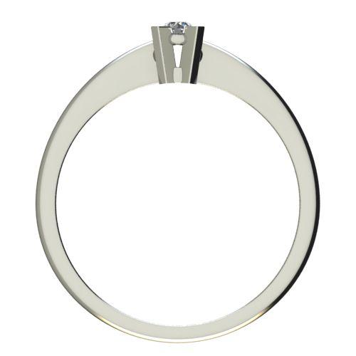 Годежен Пръстен бяло злато с диамант Ether 0,04 ct. 2696 b