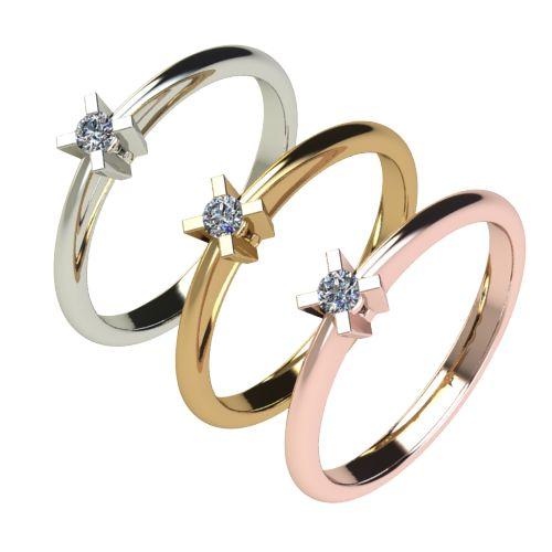 Годежен Пръстен бяло злато с диамант Ether 0,04 ct. 2696 c