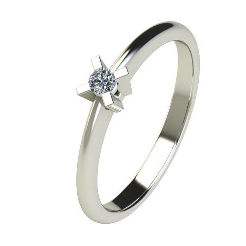 Годежен Пръстен бяло злато с диамант Ether 0,04 ct. 2696