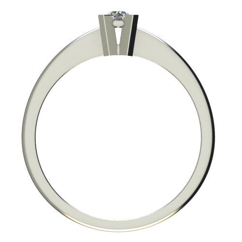 Годежен Пръстен бяло злато с диамант Ether 0,07 ct. 2697 c