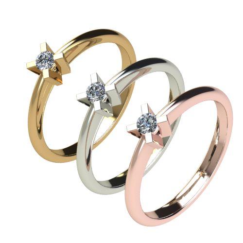 Годежен Пръстен бяло злато с диамант Ether 0,07 ct. 2697 d