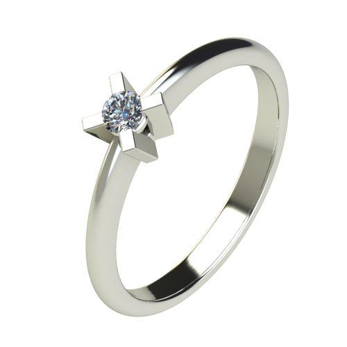 Годежен Пръстен бяло злато с диамант Ether 0,07 ct. 2697