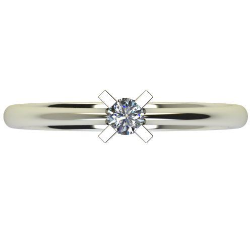 Годежен Пръстен бяло злато с диамант Ether 0,12 ct. 2698 a