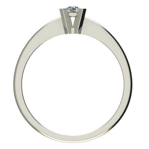 Годежен Пръстен бяло злато с диамант Ether 0,12 ct. 2698 b