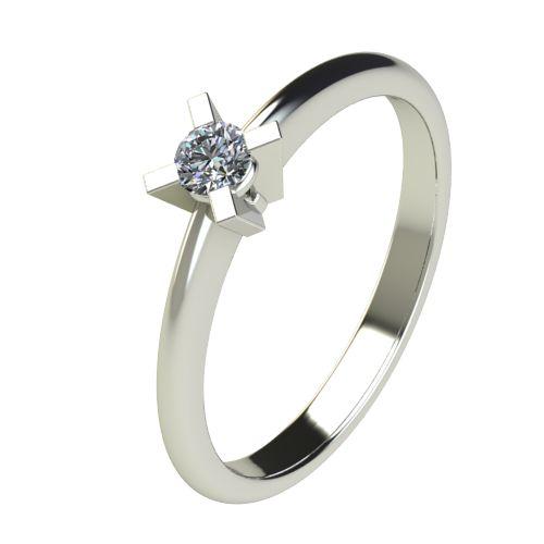 Годежен Пръстен бяло злато с диамант Ether 0,12 ct. 2698