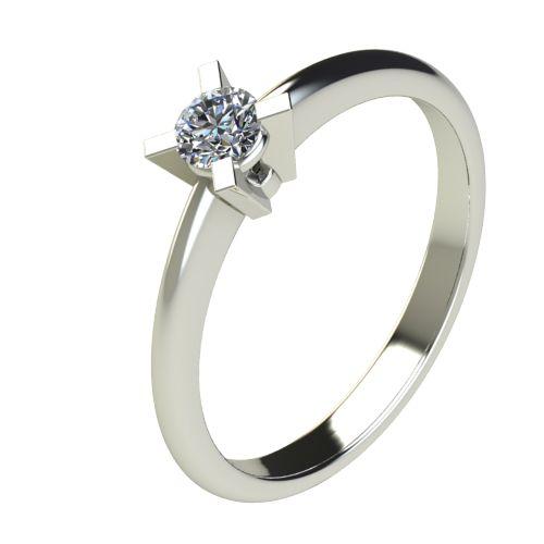Годежен Пръстен бяло злато с диамант Ether 0,17 ct. 2699