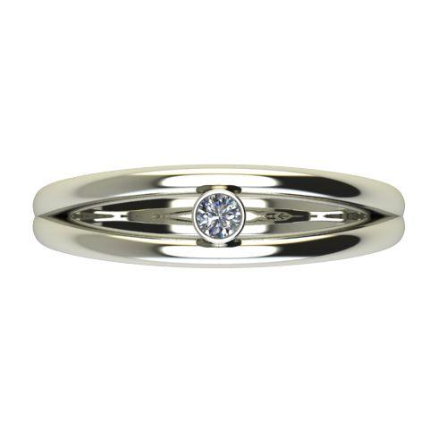 Годежен Пръстен бяло злато с диамант Eyes 0,04 ct. 2687 a