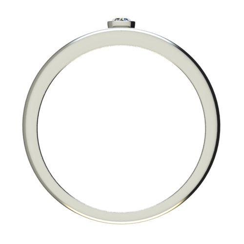 Годежен Пръстен бяло злато с диамант Eyes 0,04 ct. 2687 b