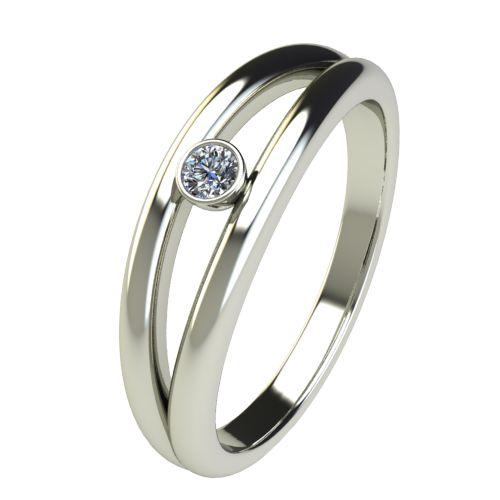 Годежен Пръстен бяло злато с диамант Eyes 0,04 ct. 2687