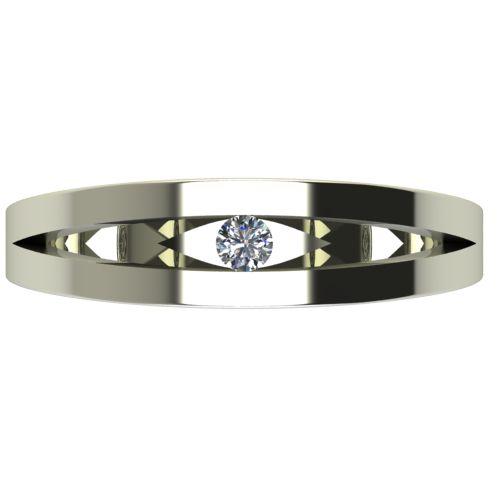 Годежен Пръстен бяло злато с диамант Eyes 0,04 ct. 2715 a