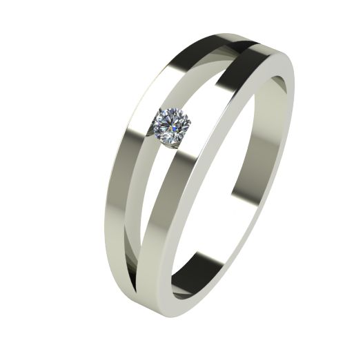 Годежен Пръстен бяло злато с диамант Eyes 0,04 ct. 2715
