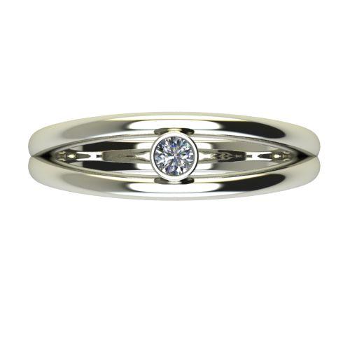 Годежен Пръстен бяло злато с диамант Eyes 0,07 ct. 2688 a