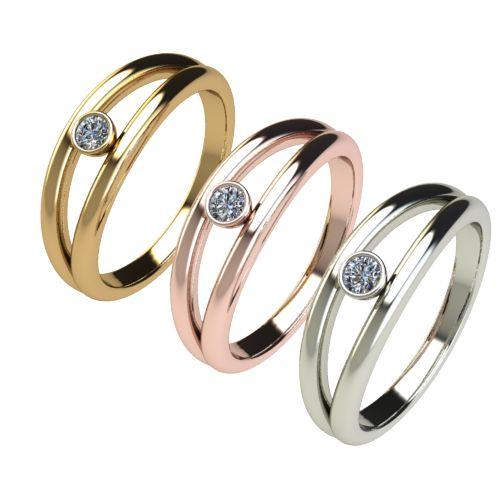 Годежен Пръстен бяло злато с диамант Eyes 0,07 ct. 2688 c