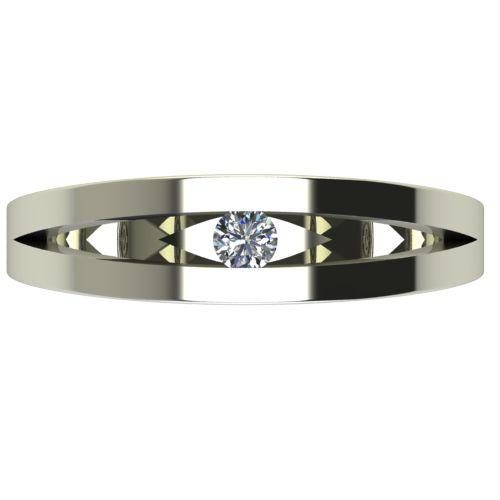 Годежен Пръстен бяло злато с диамант Eyes 0,07 ct. 2716 a