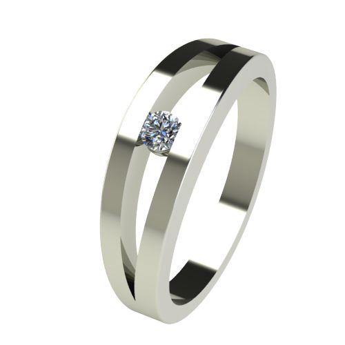 Годежен Пръстен бяло злато с диамант Eyes 0,07 ct. 2716