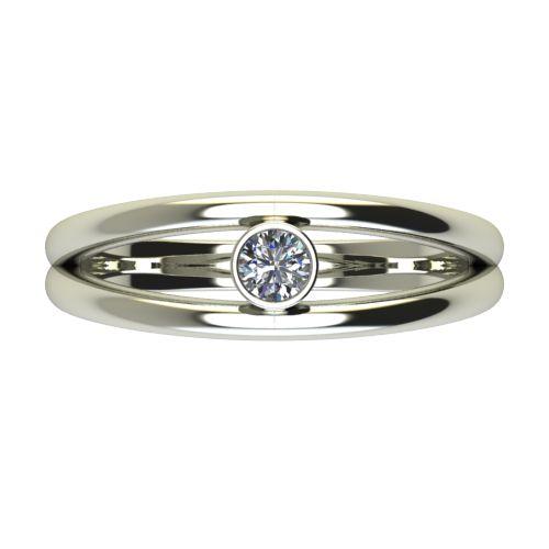 Годежен Пръстен бяло злато с диамант Eyes 0,12 ct. 2689 a