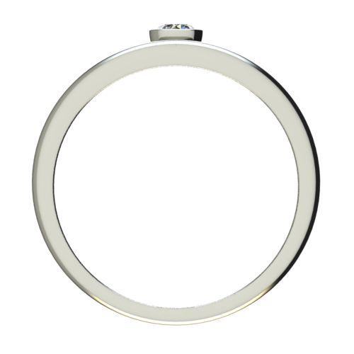 Годежен Пръстен бяло злато с диамант Eyes 0,12 ct. 2689 b