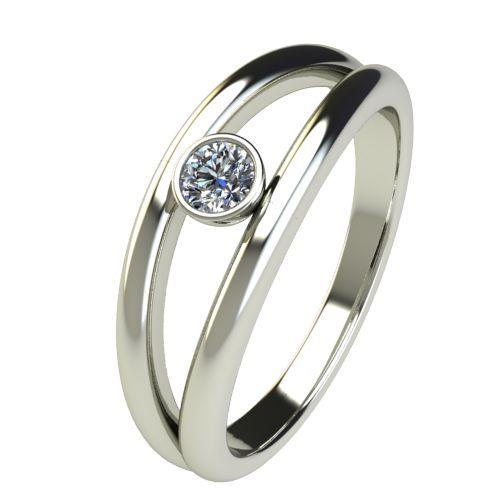 Годежен Пръстен бяло злато с диамант Eyes 0,12 ct. 2689