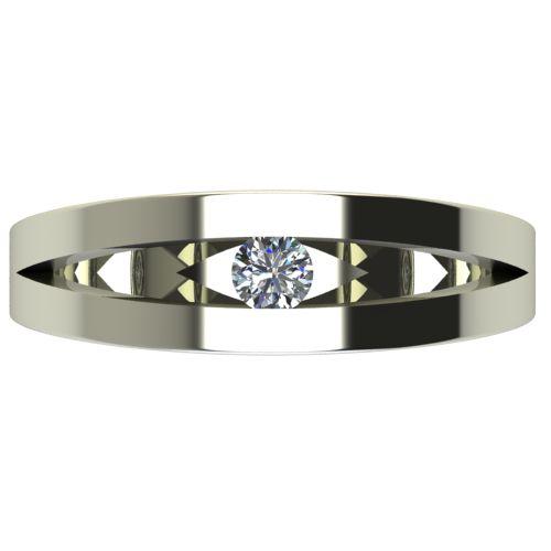 Годежен Пръстен бяло злато с диамант Eyes 0,12 ct. 2717 a