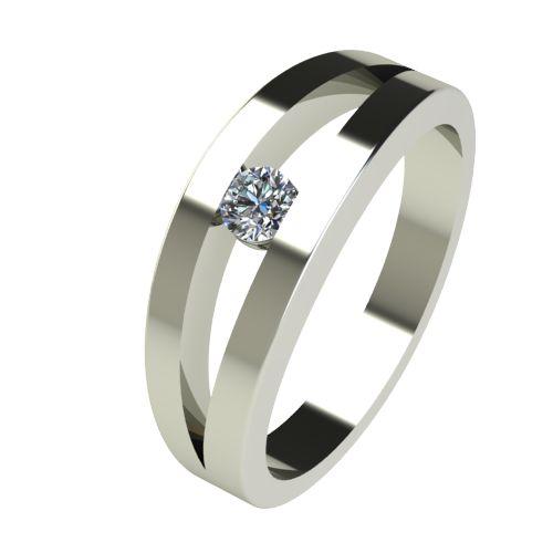 Годежен Пръстен бяло злато с диамант Eyes 0,12 ct. 2717
