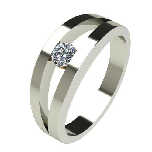 Годежен Пръстен бяло злато с диамант Eyes 0,17 ct. 2718