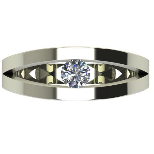 Годежен Пръстен бяло злато с диамант Eyes 0,25 ct. 2719 a