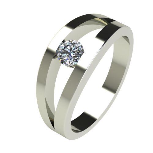 Годежен Пръстен бяло злато с диамант Eyes 0,25 ct. 2719